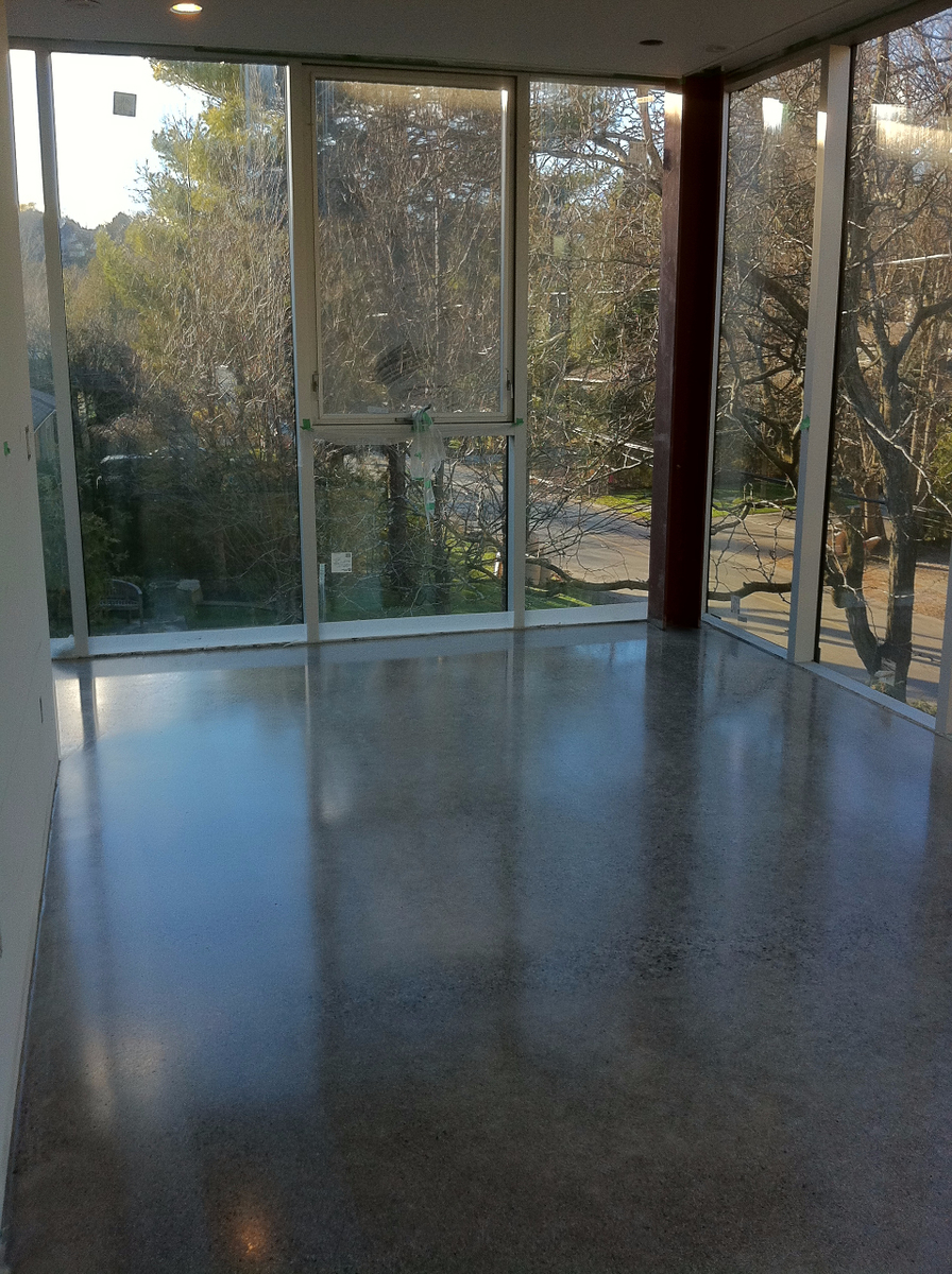 polished concrete home