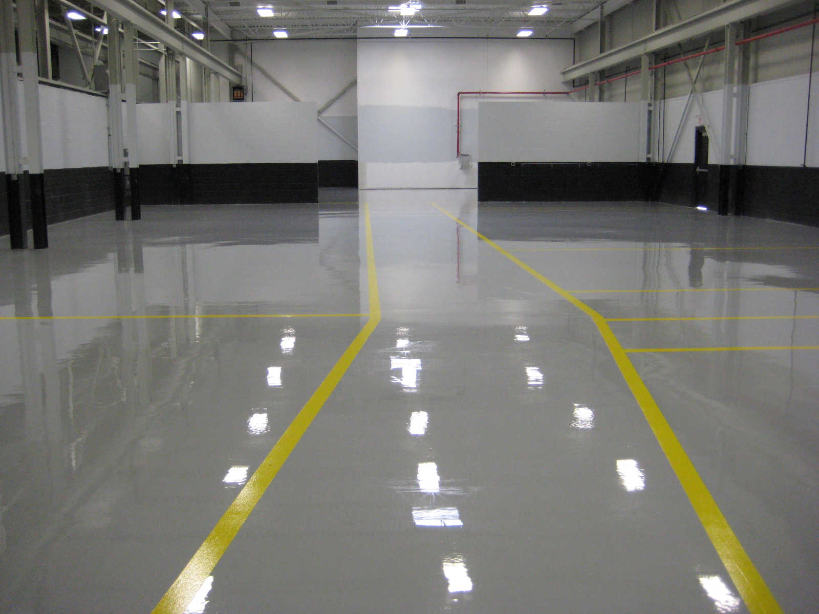 the best flooring for your warehouse ground polished and stained